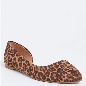 Nwt Torrid wide width Leopard print Flat Shoes